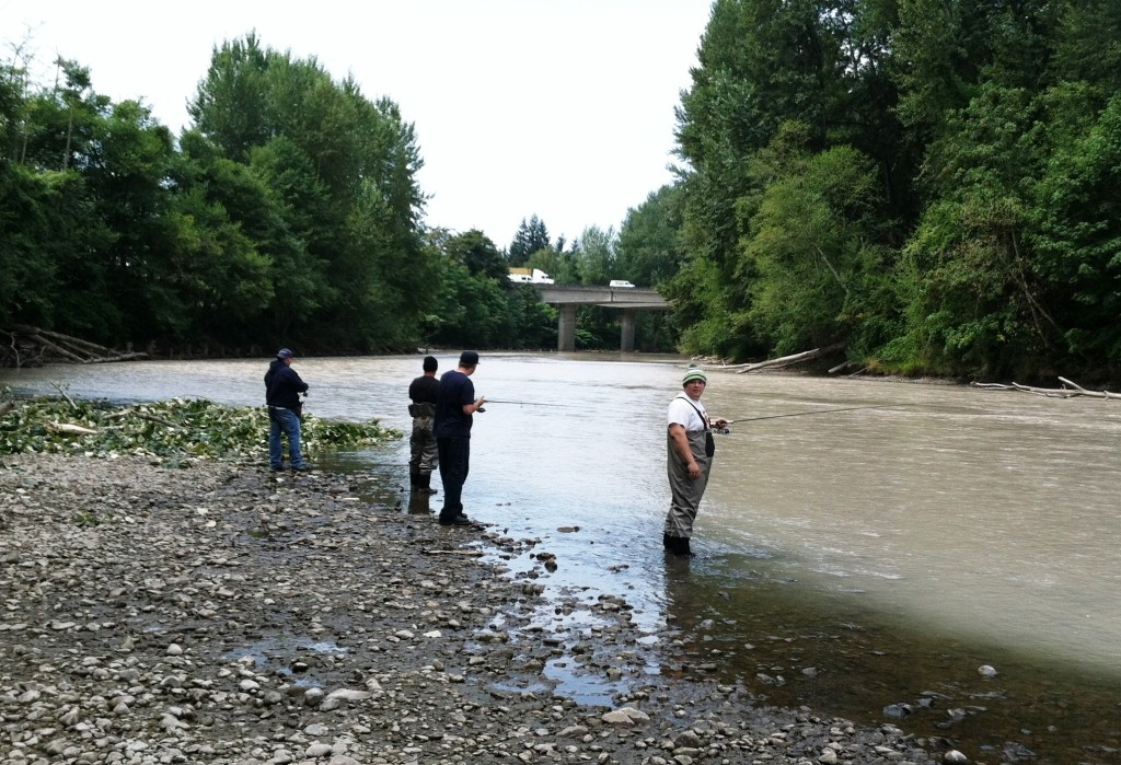 2015 puyallup river salmon season opener offering up some