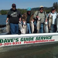 Book your Cowlitz River Guided fishing trip with Dave's Guide Service. Dave guides on the Columbia and Olympic Peninsula rivers as well. Reserve your spot today, seats fill up fast.